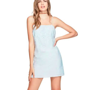 GUESS Judy Embroidered Dress MED NWT Blue